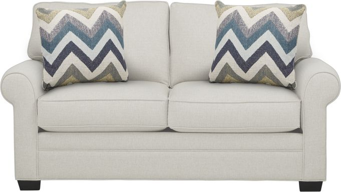 Cindy Crawford Home Bellingham Off-White Textured Loveseat