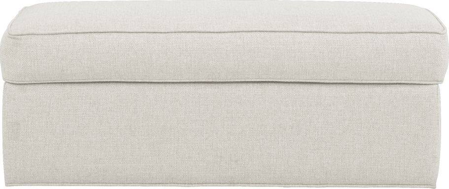 Cindy Crawford Home Bellingham Off-White Textured Ottoman