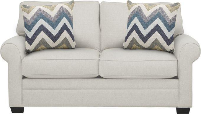 Cindy Crawford Home Bellingham Off-White Textured Sleeper Loveseat