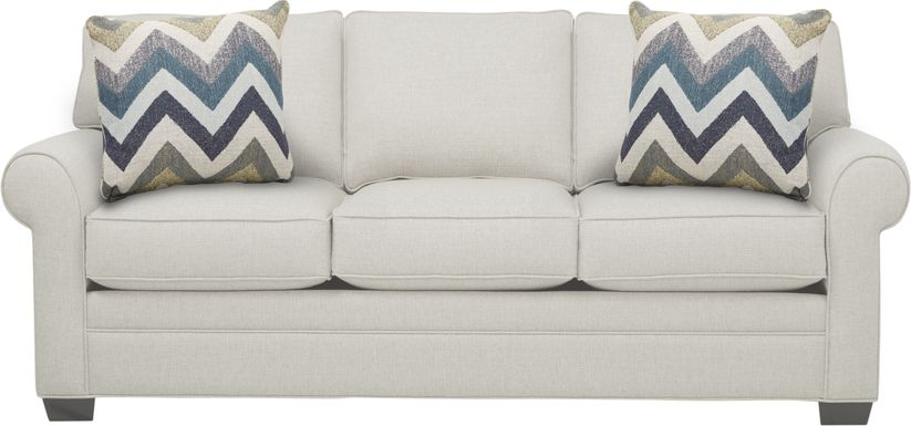 Cindy Crawford Home Bellingham Off-White Textured Sofa