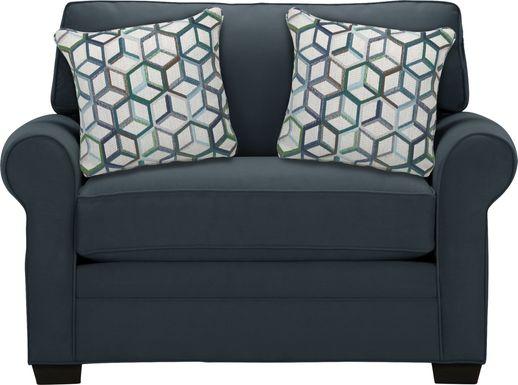 Cindy Crawford Home Bellingham Sapphire Microfiber Sleeper Chair