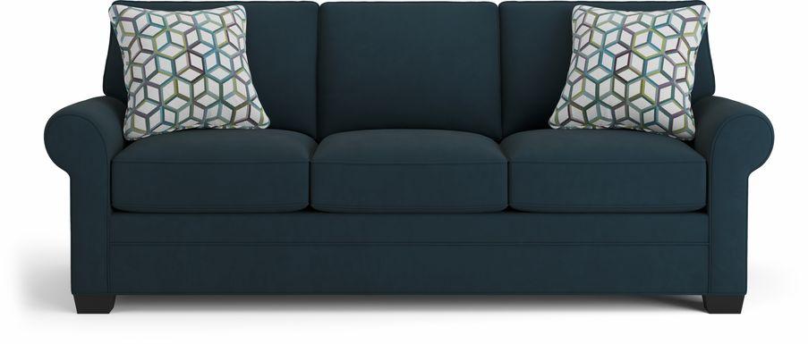 Cindy Crawford Home Bellingham Sapphire Microfiber Sleeper Sofa