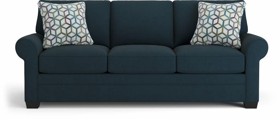 Cindy Crawford Home Bellingham Sapphire Microfiber Sofa