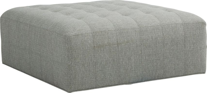 Cindy Crawford Home Calvin Heights Bluestone Textured Cocktail Ottoman