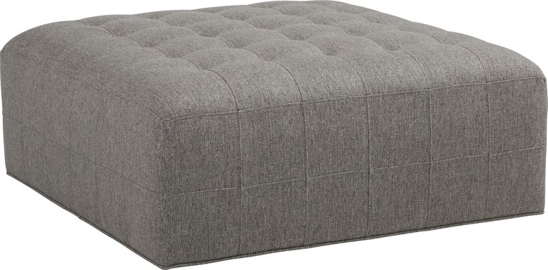 Cindy Crawford Home Calvin Heights Cobblestone Textured Cocktail Ottoman