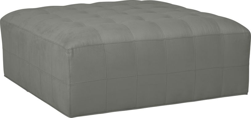 Cindy Crawford Home Calvin Heights Steel Microfiber Cocktail Ottoman