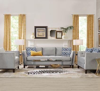Cindy Crawford Home Central Boulevard Bluestone 7 Pc Living Room