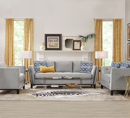 Cindy Crawford Home Central Boulevard Bluestone 7 Pc Living Room
