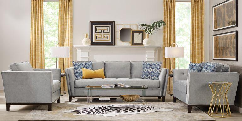 Cindy Crawford Home Central Boulevard Bluestone 8 Pc Living Room
