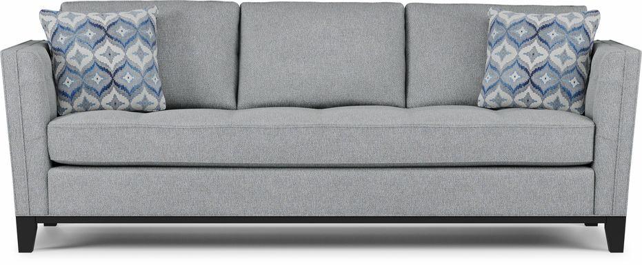 Cindy Crawford Home Central Boulevard Bluestone Textured Sofa