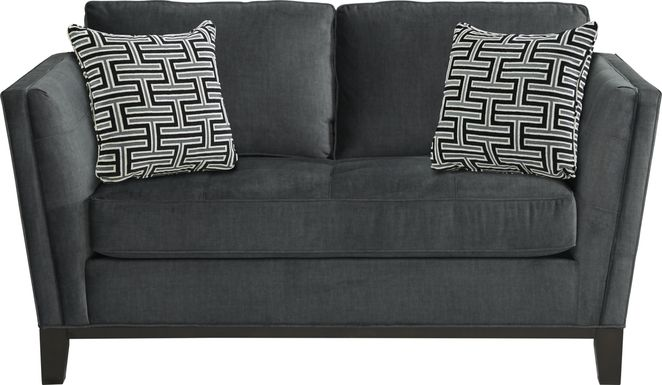 Cindy Crawford Home Central Boulevard Gray Plush Loveseat