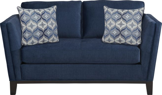Cindy Crawford Home Central Boulevard Ink Plush Loveseat