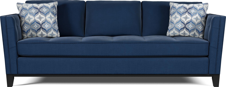 Cindy Crawford Home Central Boulevard Ink Plush Sofa