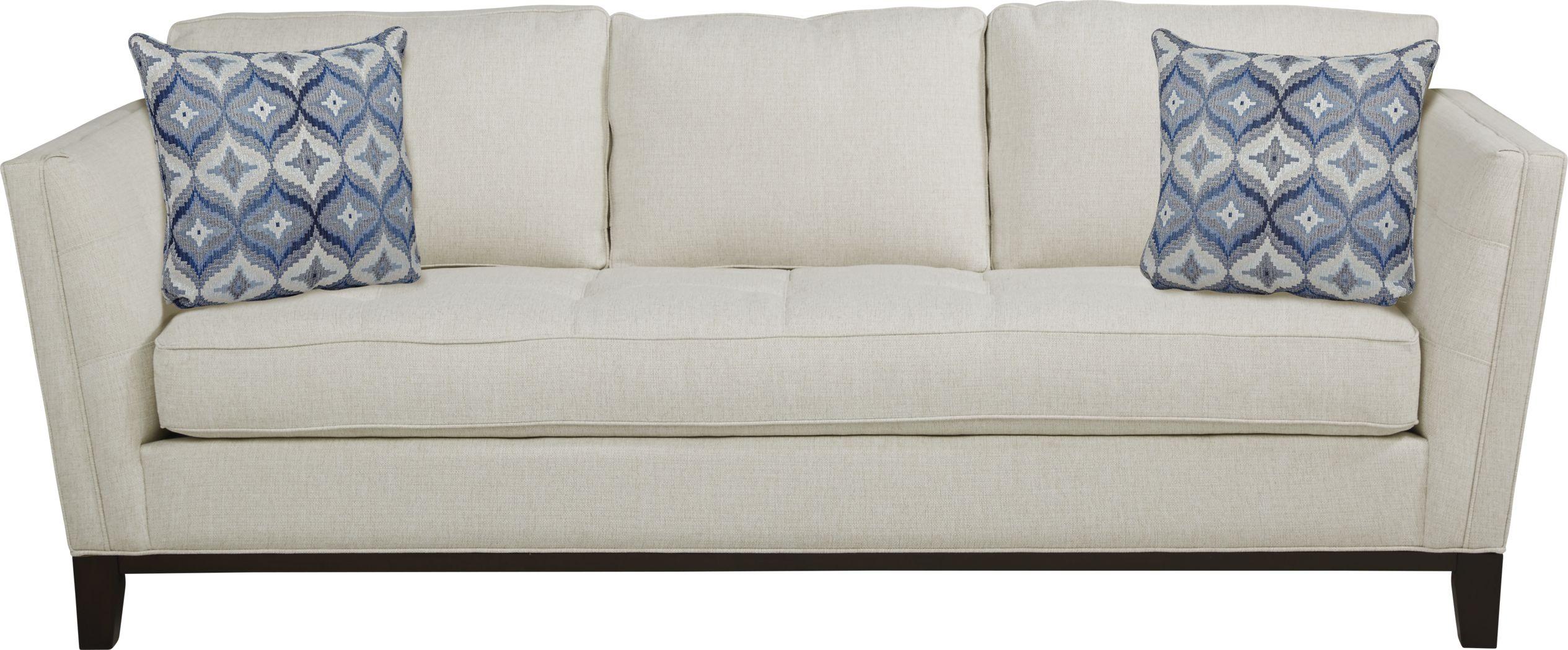 Cindy Crawford Home Central Boulevard Off-White Textured Gel Foam Sleeper