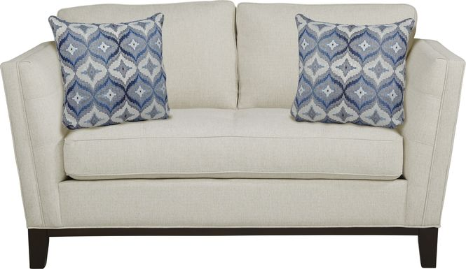 Cindy Crawford Home Central Boulevard Off-White Textured Loveseat