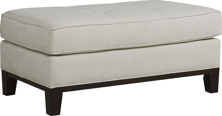 Cindy Crawford Home Central Boulevard Off-White Textured Ottoman