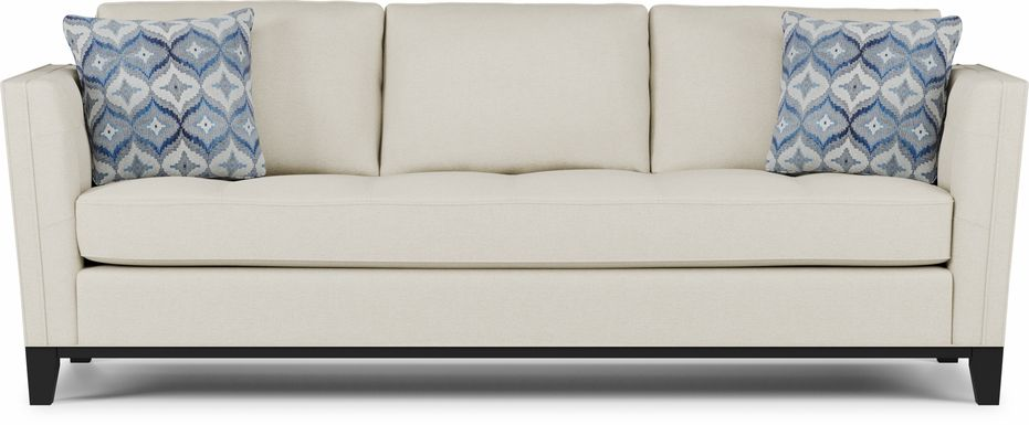 Cindy Crawford Home Central Boulevard Off-White Textured Sofa