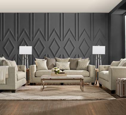 Cindy Crawford Home Chelsea Hills Beige 5 Pc Living Room