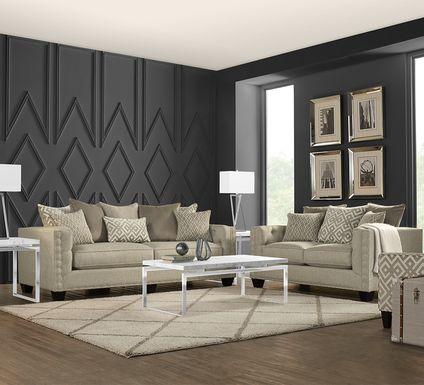 Cindy Crawford Home Chelsea Hills Beige 7 Pc Living Room