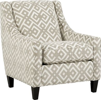 Cindy Crawford Home Chelsea Hills Beige Accent Chair