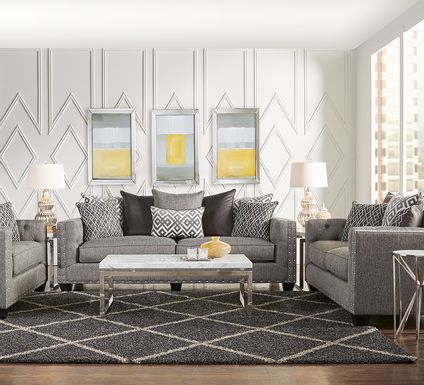 Cindy Crawford Home Chelsea Hills Gray 5 Pc Living Room