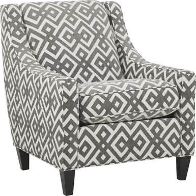 Cindy Crawford Home Chelsea Hills Gray Accent Chair