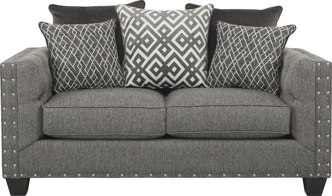 Cindy Crawford Home Chelsea Hills Gray Loveseat