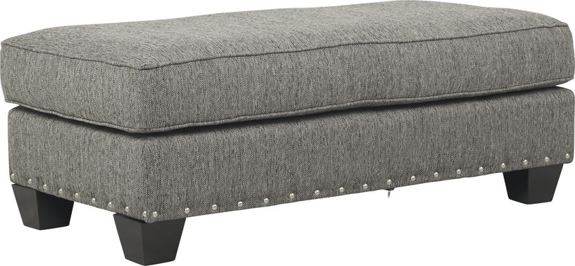 Cindy Crawford Home Chelsea Hills Gray Ottoman