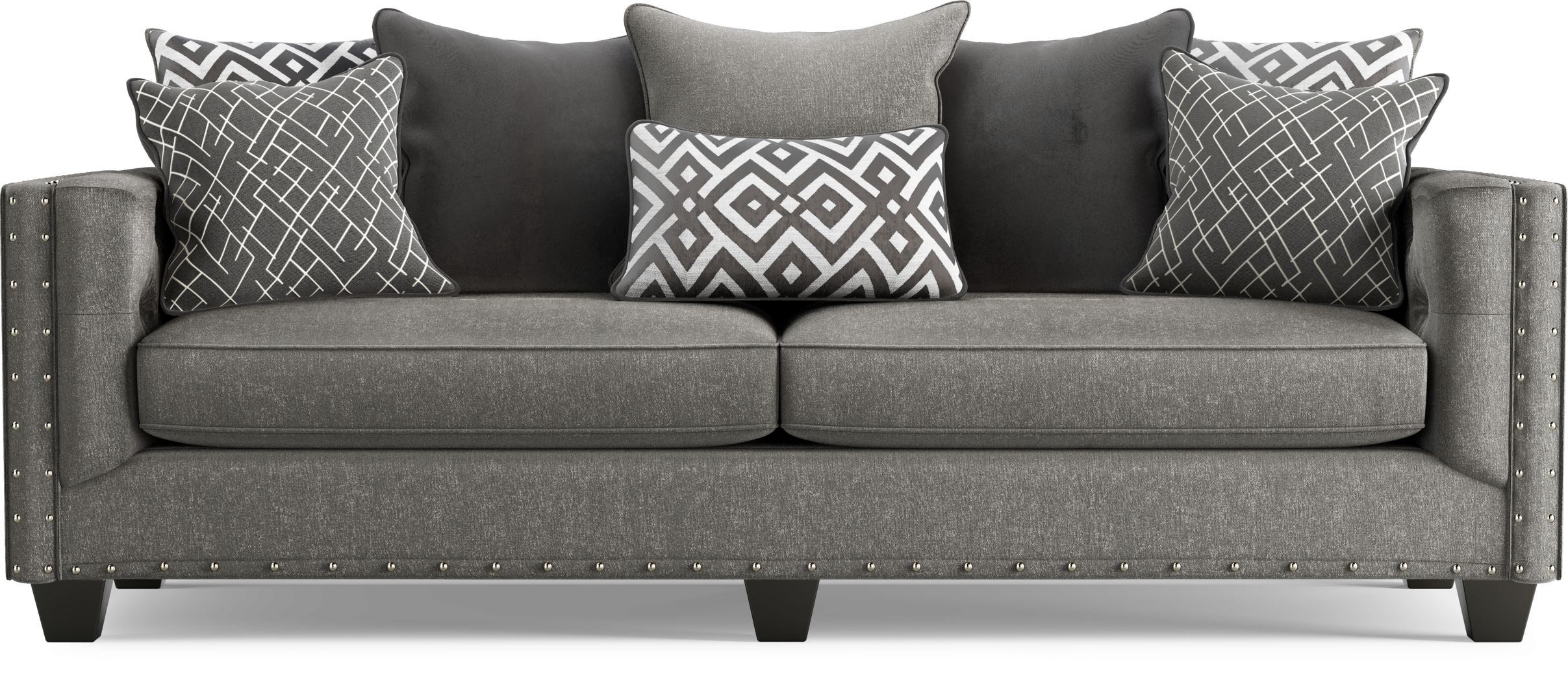 Cindy Crawford Home Chelsea Hills Gray Sofa