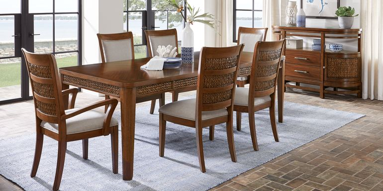 Cindy Crawford Home Golden Isles Brown 5 Pc Rectangle Dining Room