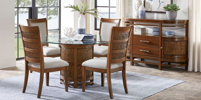 Cindy Crawford Home Golden Isles Brown 5 Pc Round Dining Room