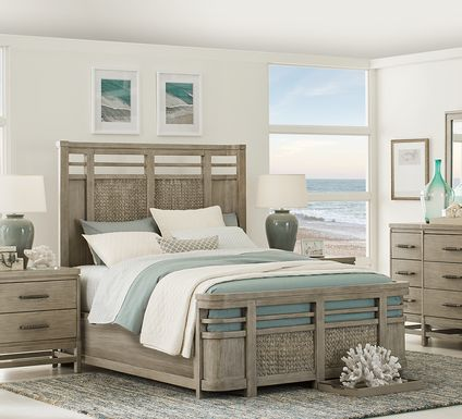 Cindy Crawford Home Golden Isles Gray 5 Pc King Panel Bedroom