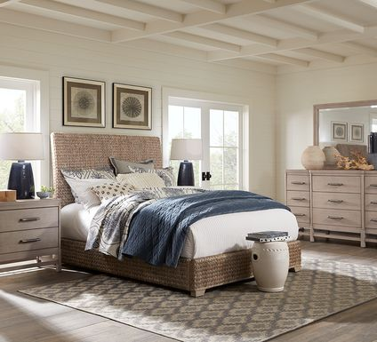 Cindy Crawford Home Golden Isles Gray 5 Pc King Woven Bedroom