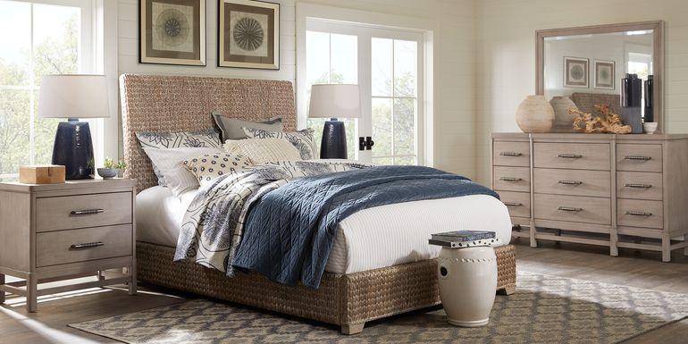 Cindy Crawford Home Golden Isles Gray 5 Pc Queen Woven Bedroom