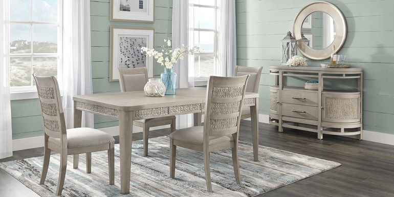 Cindy Crawford Home Golden Isles Gray 5 Pc Rectangle Dining Room