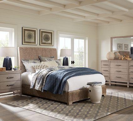 Cindy Crawford Home Golden Isles Gray 7 Pc Queen Woven Bedroom