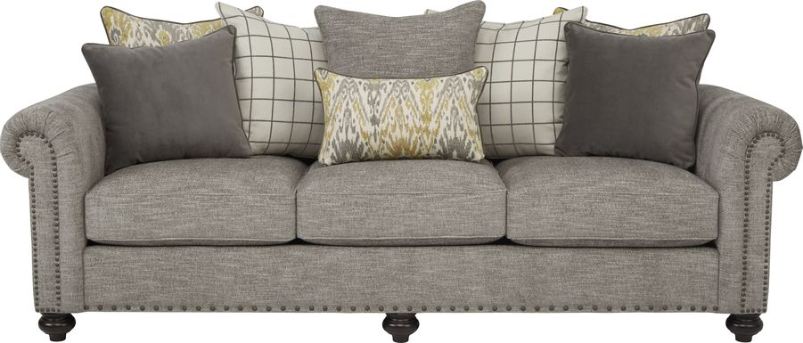 Cindy Crawford Home Greenwich Pointe Gray Sofa
