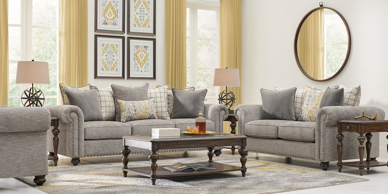 Cindy Crawford Home Greenwich Pointe Gray 7 Pc Living Room