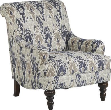 Cindy Crawford Home Greenwich Pointe Navy Accent Chair