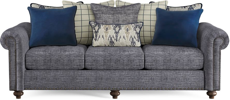 Cindy Crawford Home Greenwich Pointe Navy Sofa