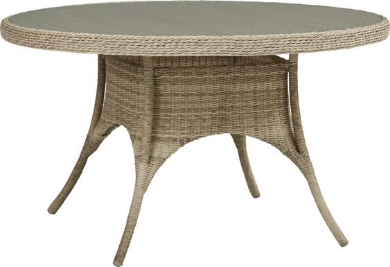 Cindy Crawford Home Hamptons Cove Gray 52 in. Round Outdoor Dining Table