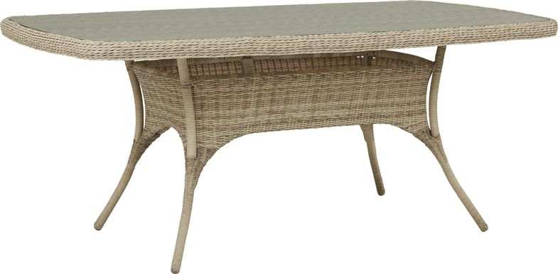 Cindy Crawford Home Hamptons Cove Gray 74 in. Rectangle Outdoor Dining Table
