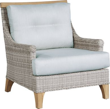 Cindy Crawford Home Hamptons Cove Gray Outdoor Chair with Mist Cushions