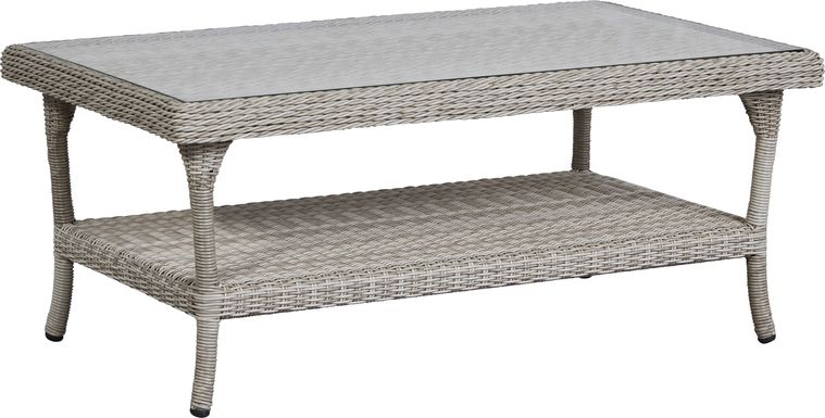Cindy Crawford Home Hamptons Cove Gray Outdoor Cocktail Table