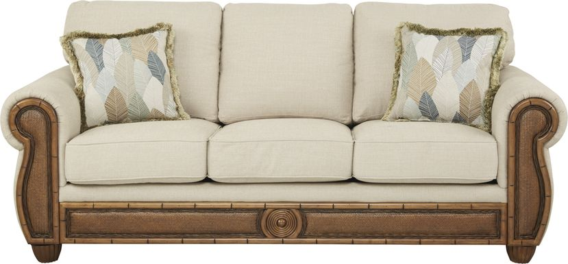 Cindy Crawford Home Key West Palms Sand Sofa