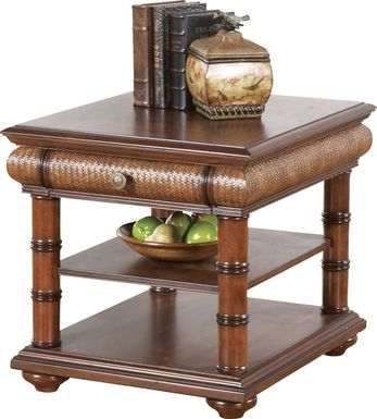 Cindy Crawford Home Key West Tobacco End Table