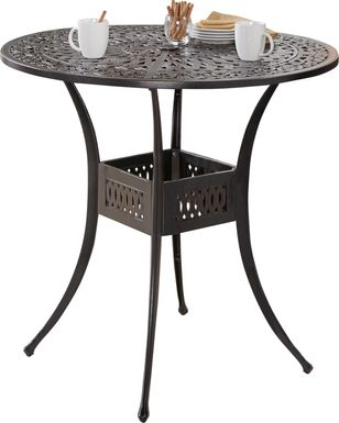 Cindy Crawford Home Lake Como Antique Bronze 42 in. Round Outdoor Dining Table