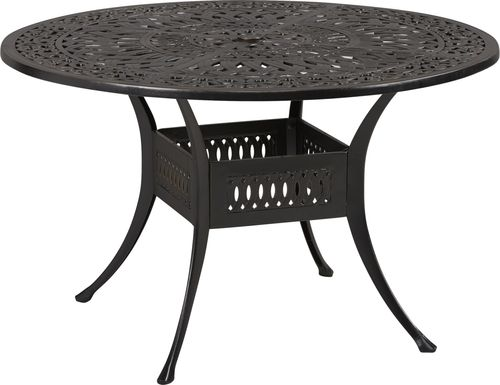 Cindy Crawford Home Lake Como Antique Bronze 48 in. Round Outdoor Dining Table