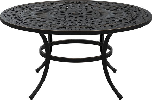 Cindy Crawford Home Lake Como Antique Bronze Round Outdoor Cocktail Table