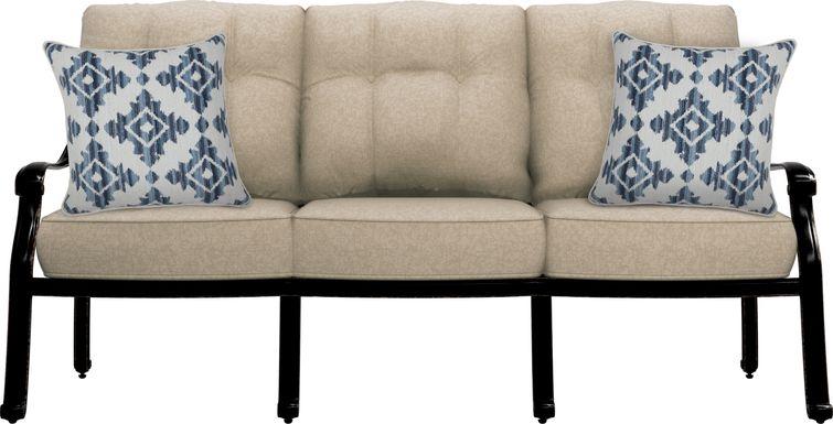 Cindy Crawford Home Lake Como Antique Bronze Outdoor Sofa with Mushroom Cushions